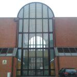 La galleria vetrata del Palazzo di Giustizia progettata da Carlo Aymonimo