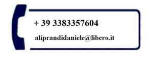 Cellulare e e-mail Avv. Daniele Aliprandi con studio legale a Ferrara, via del Mulinetto 39