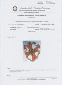 Attestato di registrazione per Marchio di Impresa pag. 1